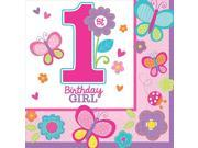 Sweet 1st Birthday Girl Beverage Napkins (36 Pack) - Party Supplies 9SIA0BS2YX9699