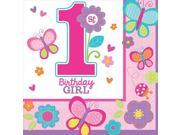 Sweet 1st Birthday Girl Luncheon Napkins (36 Pack) - Party Supplies 9SIA0BS2YY1380
