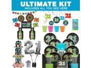 21st Birthday Ultimate Party Tableware Kit (Serves 8) 9SIA0BS4A21939