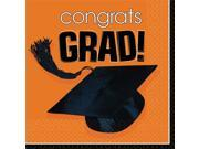 Congrats Grad Orange Luncheon Napkins (36 Pack) - Party Supplies 9SIA0BS2YY0540