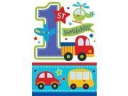 All Aboard 1st Birthday Invitations (8 Pack) - Party Supplies 9SIA0BS6PV0160