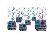 The Party Continues 50th Birthday Swirl Decorations - Party Supplies