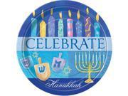 "8 Hanukkah Celebrate 9"""" Plates - Party Supplies"" 9SIA0BS3EF5485"