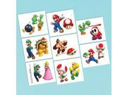 Super Mario Tattoo Favors (16 Pack) - Party Supplies 9SIA62V5VW6645