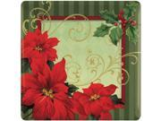 "Vintage Poinsettia 7"""" Plates (18 Pack) - Party Supplies"" 9SIA0BS12H6534"