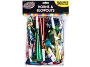 Horn & Blowout Multicolor Value Pack (50 Count) - Party Supplies 9SIA0BS14K2185