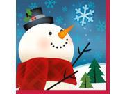 Joyful Snowman Beverage Napkins (16 Pack) - Party Supplies 9SIA0BS12Z3048