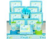 Welcome Little One Boy Baby Shower Deluxe Tableware Kit (Serves 8) - Party Supplies 9SIA0BS3ZV7203