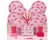 Pink Ribbon Party Deluxe Tableware Kit Serves 8 9SIA0BS49K0991
