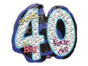 Oh No! 40Th Birthday Shaped Balloon - Party Supplies 9SIA0BS0NC2586