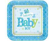 "Welcome Little One Boy 7"""" Plate (8 Count) - Party Supplies"" 9SIA0BS3V01908"