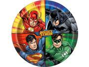 """Justice League 9"""""""" Luncheon Plates (8 Count)"""" 9SIA0BS49K2206"""