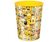 Emoji Smile 16oz Plastic Favor Cup (Each) - Party Supplies 9SIA0BS3WF9998