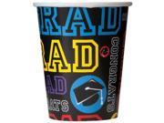 Grad Party 9oz Cups (8 Pack) - Party Supplies 9SIA0BS2YX9841