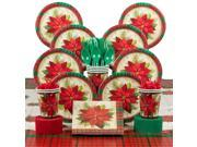 Plaid Poinsettia Deluxe Tableware Kit Serves 8 - Party Supplies 9SIA0BS49K3780