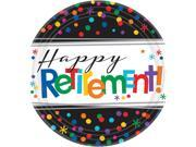 """Officially Retired  7"""""""" Plate (8 Count) - Party Supplies"""" 9SIA0BS3UN2306"""