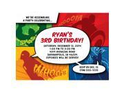 Superheroes Personalized Invitation (Each) 9SIA0BS49K3330