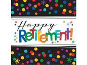 Officially Retired Beverage Napkins (16 Count) - Party Supplies 9SIA0BS3UN2295