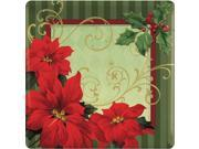 "Vintage Poinsettia 10"""" Plates (18 Pack) - Party Supplies"" 9SIA0BS12H6586"