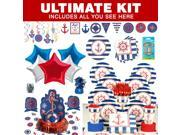 Nautical Ultimate Party Tableware Kit (Serves 8) - Party Supplies 9SIA0BS40W7906