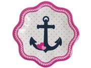 Nautical Pink Dessert Plates (8 Count) 9SIA0BS5B64034