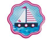 Nautical Pink Dinner Plates (8 Count) 9SIA0BS5B64022