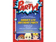 Superhero Girls Personalized Invitation (Each) 9SIA0BS54P2565