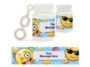 Emoji Personalized Bubbles 18 Pack