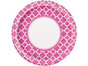 "Hot Pink Quatrefoil 9"""" Luncheon Plates (8 Pack) - Party Supplies"" 9SIA0BS5SA9205"