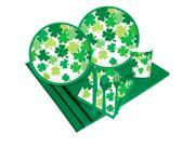 Happy St. Patrick's Day Blooming Shamrocks Party Pack (18) 9SIA3G66MH8822