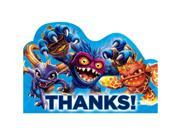 Skylanders Thank You Cards (8 Pack) - Party Supplies 9SIA0BS2YY0060