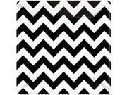 "Black & White Chevron 10"""" Luncheon Plates (18 Pack) - Party Supplies"" 9SIA0BS2YY0016"