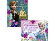 Disney's Frozen Invitation And Thank You (16 Pack) - Party Supplies 9SIABHU58Z7603