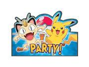 Pokemon Postcard Invitations (8 Pack) - Party Supplies 9SIA2K34TG5452