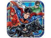 "Justice League 9"""" Square Luncheon Plates (8 Count) - Party Supplies"" 9SIABHU58N7382"