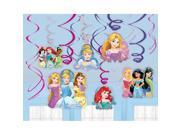 Disney Princess Foil Swirl Hanging Decorations (12 Pack) - Party Supplies 9SIA0BS2YY1226