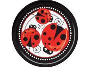 "Ladybug 9"""" Luncheon Plates (8 Pack) - Party Supplies"" 9SIA0BS2YY1666"