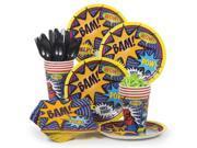 Superhero Birthday Party Standard Tableware Kit Serves 8 9SIA0BS6PN4575