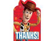 Toy Story Postcard Thank You Cards (8 Pack) - Party Supplies 9SIA0BS6PV0190