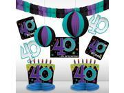 The Party Continues 40th Birthday Decorating Kit - Party Supplies 9SIA0BS6RJ8033