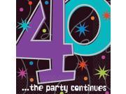 The Party Continues 40th Birthday Beverage Napkins - Party Supplies 9SIA0BS6TG6471