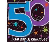 The Party Continues 50th Birthday Napkins - Party Supplies 9SIA0BS6UR8217