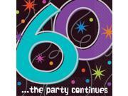 The Party Continues 60th Birthday Napkins - Party Supplies 9SIA0BS6WH2771