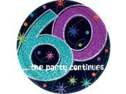 "The Party Continues 60th Birthday 9"""" Dinner Plates (8 Pack) - Party Supplies"" 9SIA0BS6WH2773"