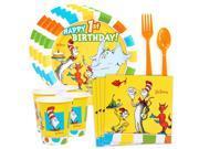 Dr. Seuss Favorites 1st Birthday Standard Tableware Kit (Serves 8)