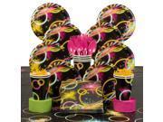 Glow Birthday Party Deluxe Tableware Kit (Serves 8) 9SIA0BS6PN4817
