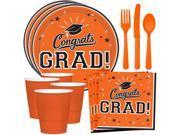 Congrats Grad Orange Standard Tableware Kit (Serves 18) 9SIA0BS73Y7248