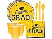 Congrats Grad Yellow Standard Tableware Kit (Serves 18) 9SIA0BS73Y6932