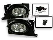 06-08 Honda Civic 4Dr Sedan OEM Fitment Replacement Fog Lights with Wiring Switch and Bulbs Included
