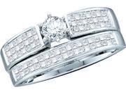 1.00CTW DIAMOND BRIDAL SET WITH 0.25CT ROUND CENTER